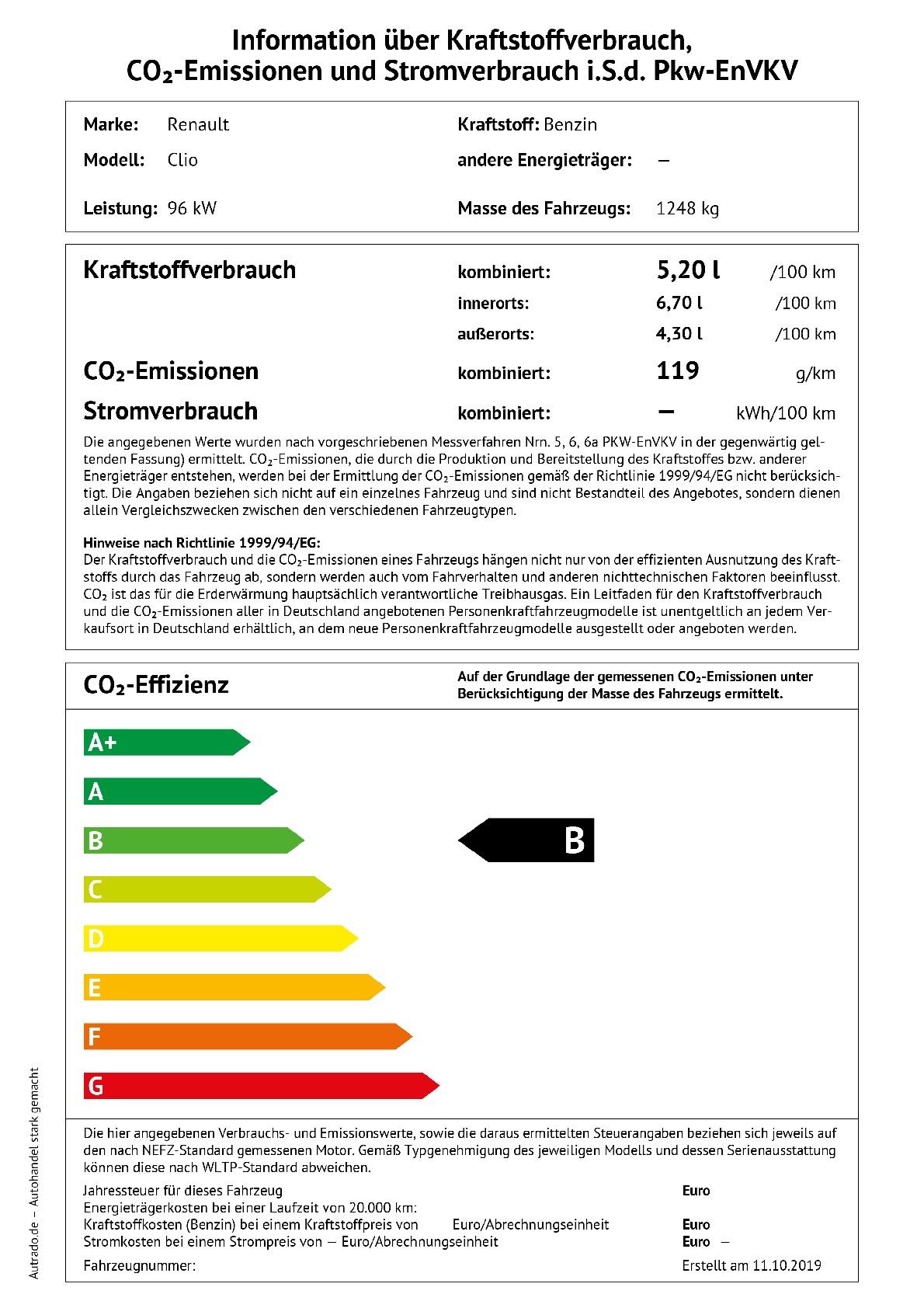 Energielabel TCE 130 EDC